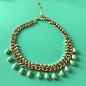 Gold and vintage green necklace